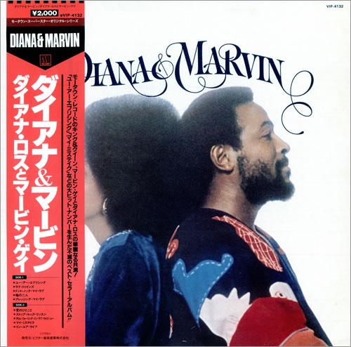 Diana Ross Diana & Marvin vinyl LP album (LP record) Japanese DIALPDI482198