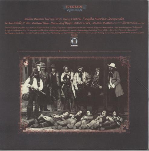 Eagles Desperado - Smooth sleeve vinyl LP album (LP record) UK EAGLPDE763586