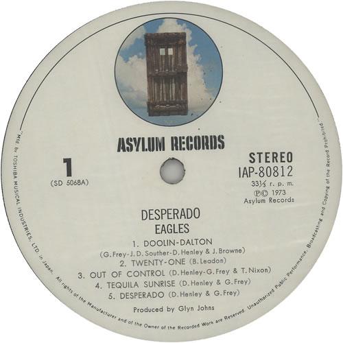 Eagles Desperado Japanese Vinyl Lp Album Lp Record 639614