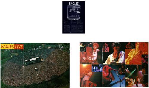 Eagles Eagles Live + Poster 2-LP vinyl record set (Double Album) Japanese EAG2LEA208086