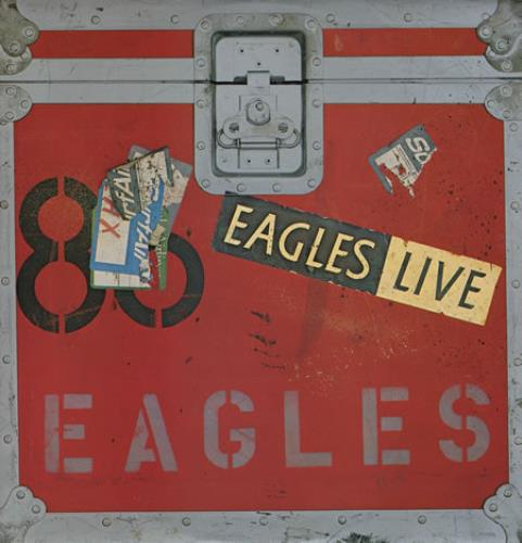 Eagles Eagles Live + Poster 2-LP vinyl record set (Double Album) UK EAG2LEA360023