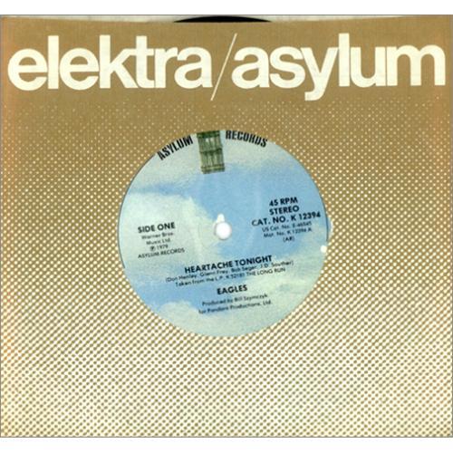 "Eagles Heartache Tonight 7"" vinyl single (7 inch record) UK EAG07HE421140"
