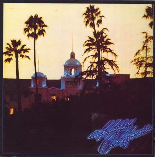 Eagles Hotel California + Poster - EX vinyl LP album (LP record) UK EAGLPHO651125