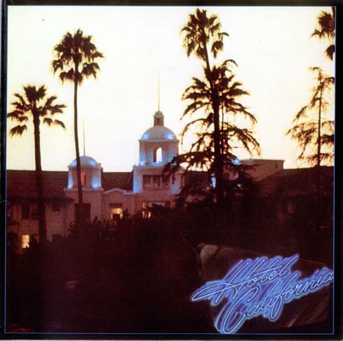 Eagles Hotel California + poster vinyl LP album (LP record) German EAGLPHO495156