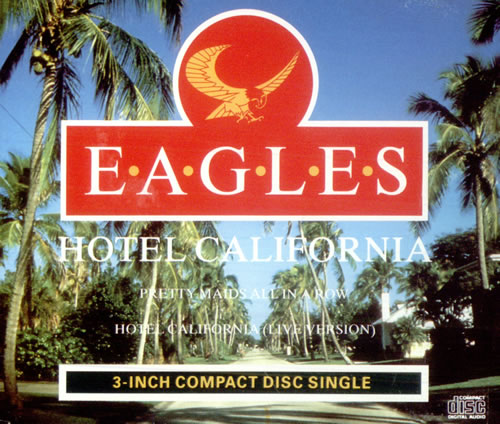 "Eagles Hotel California - Palm Tree P/s 3"" CD single (CD3) UK EAGC3HO56712"