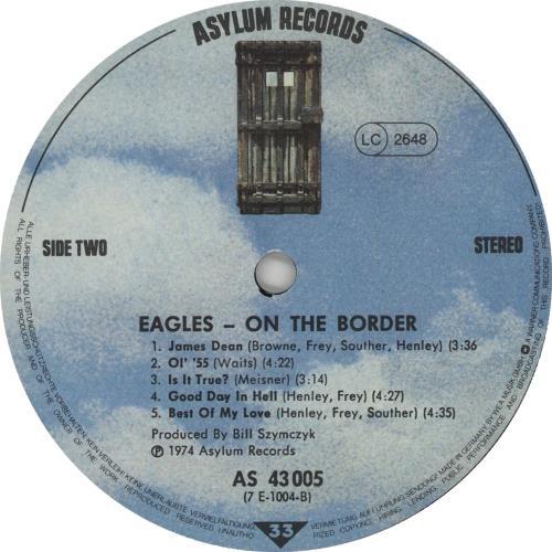 Eagles On The Border - EX vinyl LP album (LP record) German EAGLPON662147