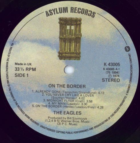 Eagles On The Border vinyl LP album (LP record) UK EAGLPON251057