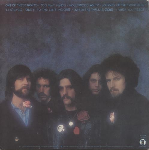 Eagles One Of These Nights - 2nd - WOS vinyl LP album (LP record) UK EAGLPON765172