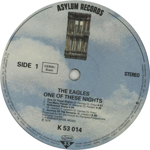 Eagles One Of These Nights - 80s vinyl LP album (LP record) German EAGLPON653829
