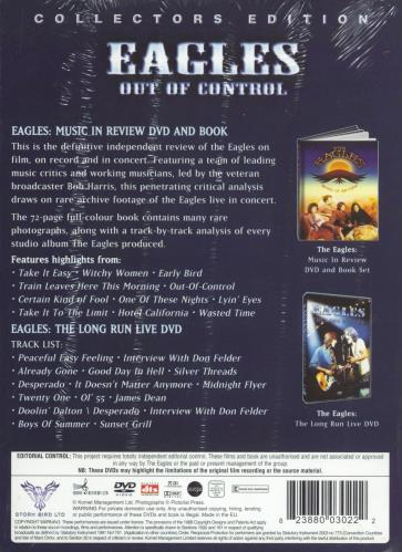 Eagles Out Of Control DVD UK EAGDDOU469059