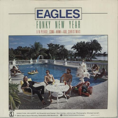 """Eagles Please Come Home For Christmas - 4pr - P/S 7"""" vinyl single (7 inch record) UK EAG07PL604487"""