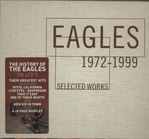 Eagles Selected Works 1972-1999 4-CD album set US EAG4CSE682881