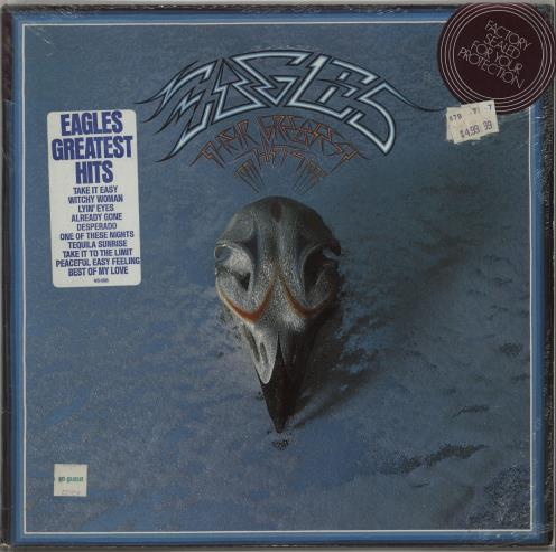 Eagles Their Greatest Hits 1971-1975 - stickered shrink vinyl LP album (LP record) US EAGLPTH667133