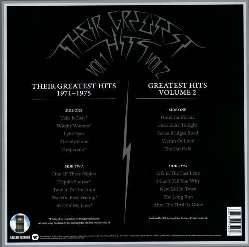 Eagles Their Greatest Hits: Volumes 1 & 2 - Sealed 2-LP vinyl record set (Double Album) UK EAG2LTH769689