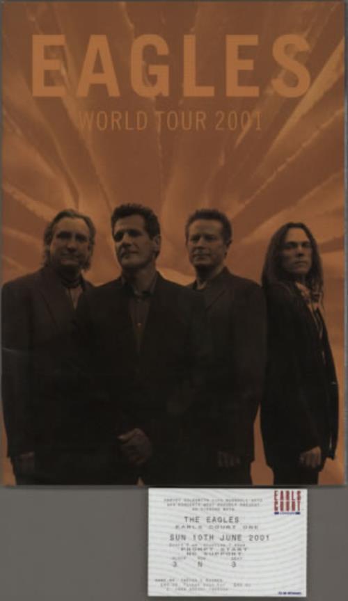 Eagles World Tour 2001 tour programme UK EAGTRWO595614