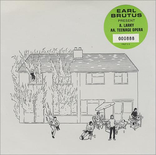 "Earl Brutus Larky 7"" vinyl single (7 inch record) UK EBT07LA402187"