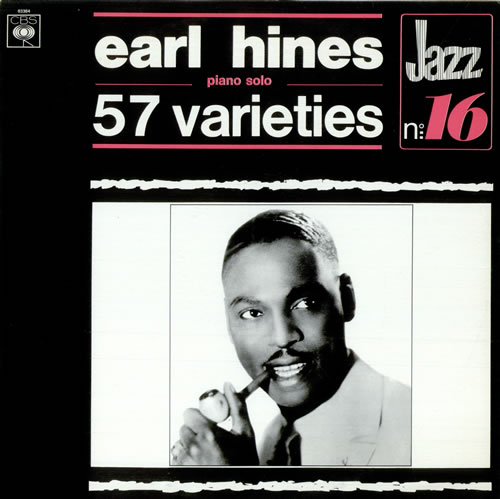 Earl Hines 57 Varieties vinyl LP album (LP record) French ER1LPVA511079
