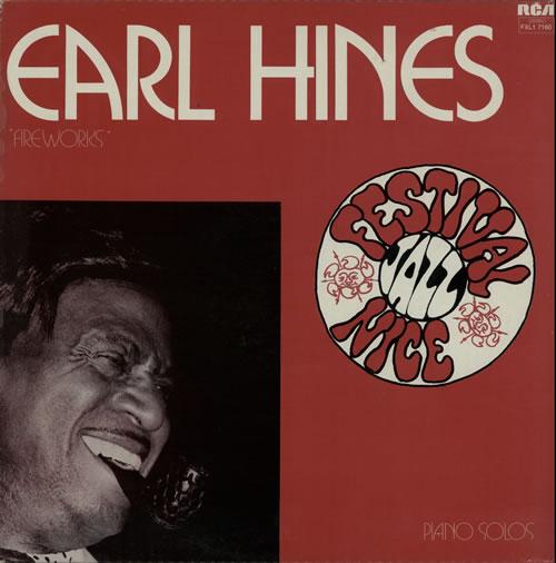 Earl Hines Fireworks vinyl LP album (LP record) French ER1LPFI584300