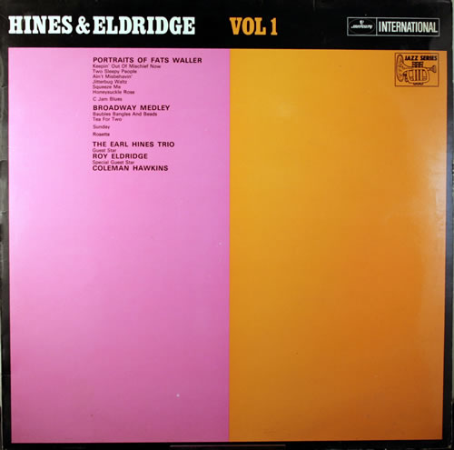 Earl Hines Hines & Eldridge Vol 1 vinyl LP album (LP record) UK ER1LPHI552356