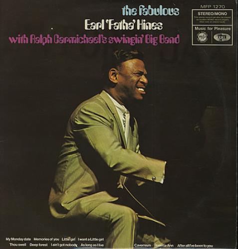 Earl Hines The Fabulous Earl 'Fatha' Hines vinyl LP album (LP record) UK ER1LPTH409419