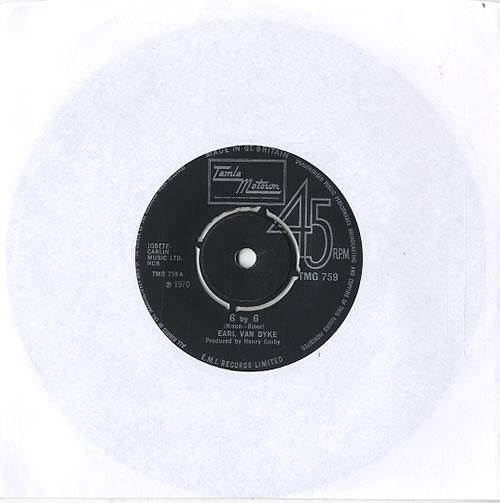 """Earl Van Dyke 6 By 6 - 4pr 7"""" vinyl single (7 inch record) UK EVK07BY610769"""