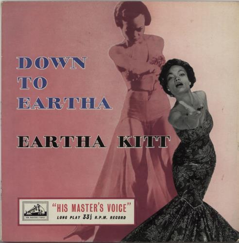 """Eartha Kitt Down To Eartha 10"""" vinyl single (10"""" record) UK ERK10DO666808"""