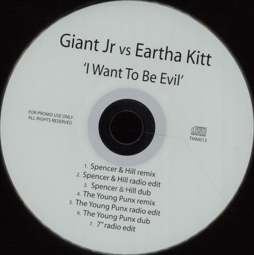 Eartha Kitt I Want To Be Evil CD-R acetate UK ERKCRIW673794