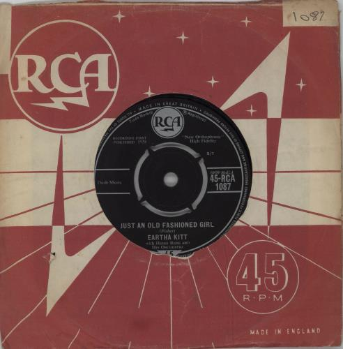 "Eartha Kitt Just An Old Fashioned Girl - 2nd 7"" vinyl single (7 inch record) UK ERK07JU572487"