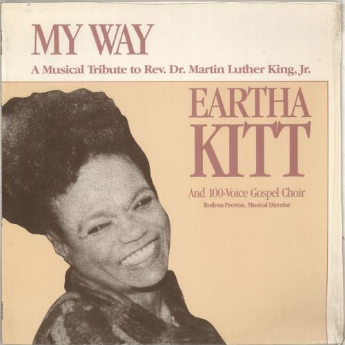Eartha Kitt My Way  - A Musical Tribute To Rev. Dr. Martin Luther King Jr. vinyl LP album (LP record) US ERKLPMY712200