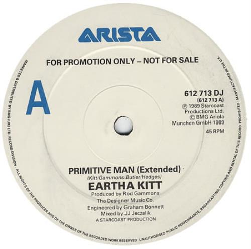 "Eartha Kitt Primitive Man 12"" vinyl single (12 inch record / Maxi-single) UK ERK12PR184115"