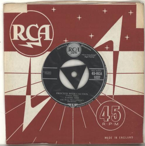 "Eartha Kitt Proceed With Caution 7"" vinyl single (7 inch record) UK ERK07PR696984"
