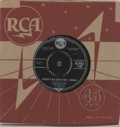 """Eartha Kitt There's No Cure For L'Amour 7"""" vinyl single (7 inch record) UK ERK07TH504150"""