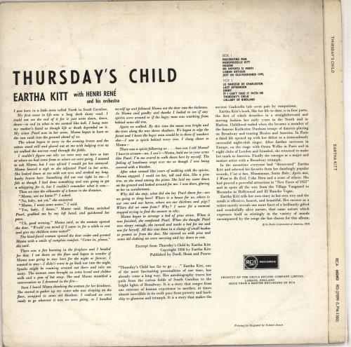 Eartha Kitt Thursday's Child vinyl LP album (LP record) UK ERKLPTH711658