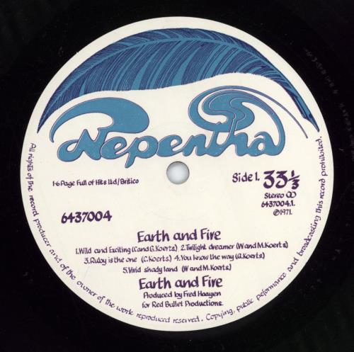 Earth And Fire Earth And Fire vinyl LP album (LP record) UK EFILPEA775116