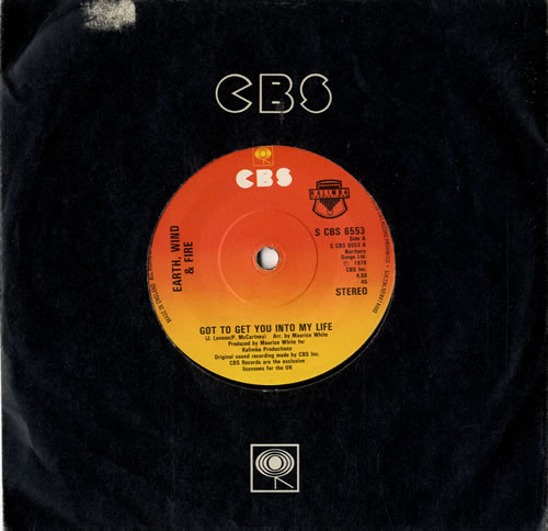 """Earth Wind & Fire Got To Get You Into My LIfe 7"""" vinyl single (7 inch record) UK EWF07GO573070"""