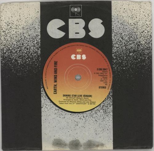 "Earth Wind & Fire Shining Star (Live Version) 7"" vinyl single (7 inch record) UK EWF07SH728804"
