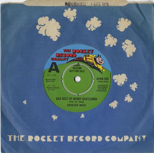 "Ebenezer Moog God Rest Ye Merry Gentlemen - A Label 7"" vinyl single (7 inch record) UK E7E07GO597408"