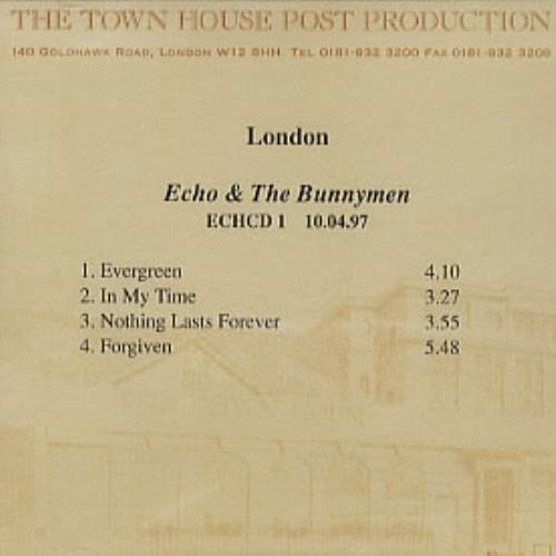 Echo & The Bunnymen Album Sampler CD-R acetate UK ECHCRAL273363