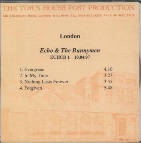 "Echo & The Bunnymen Evergreen - Album Sampler CD single (CD5 / 5"") UK ECHC5EV92623"