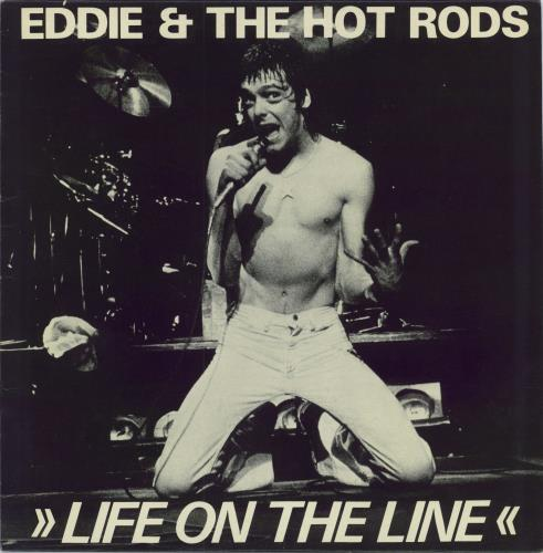 "Eddie And The Hot Rods Life On The Line 12"" vinyl single (12 inch record / Maxi-single) UK EHO12LI98368"