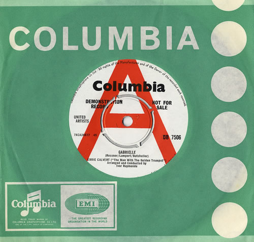 "Eddie Calvert Gabrielle 7"" vinyl single (7 inch record) UK ECV07GA479869"