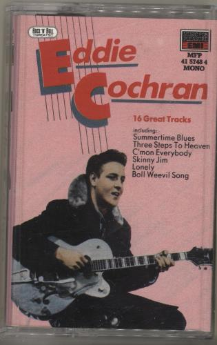 Eddie Cochran 16 Great Tracks cassette album UK EDCCLGR704247