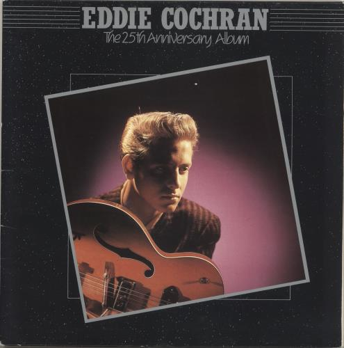 Eddie Cochran The 25th Anniversary Album + Art print 2-LP vinyl record set (Double Album) UK EDC2LTH715009