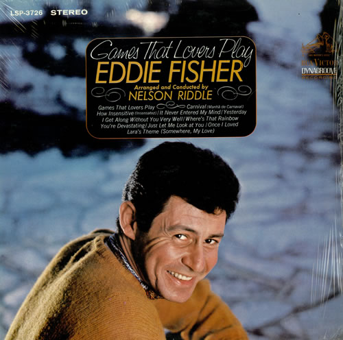Eddie Fisher Games That Lovers Play vinyl LP album (LP record) US EF1LPGA490123