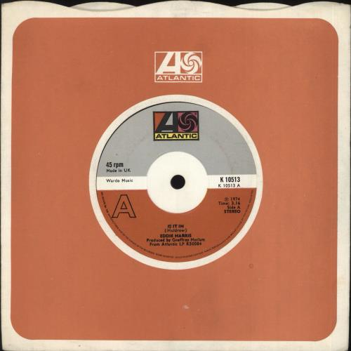 "Eddie Harris Is It In 7"" vinyl single (7 inch record) UK E1H07IS728064"