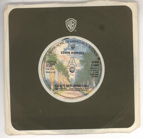 """Eddie Howell Can't Get Over You 7"""" vinyl single (7 inch record) UK EDD07CA697795"""