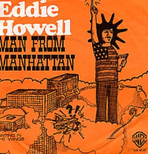 """Eddie Howell Man From Manhattan - Orange Cartoon Slv 7"""" vinyl single (7 inch record) Dutch EDD07MA49447"""