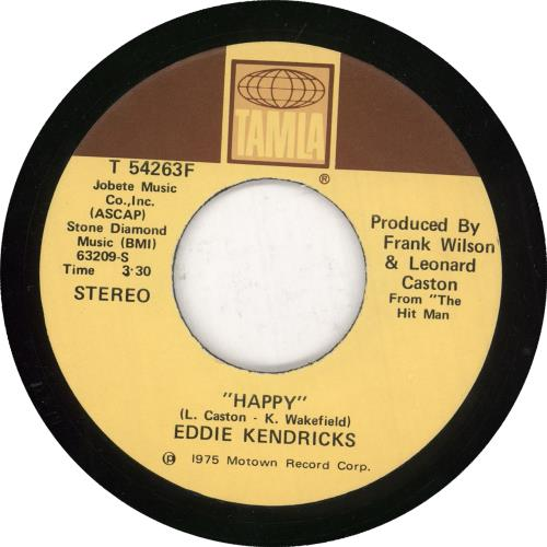 "Eddie Kendricks Happy / Deep And Quiet Love 7"" vinyl single (7 inch record) US EKD07HA733583"