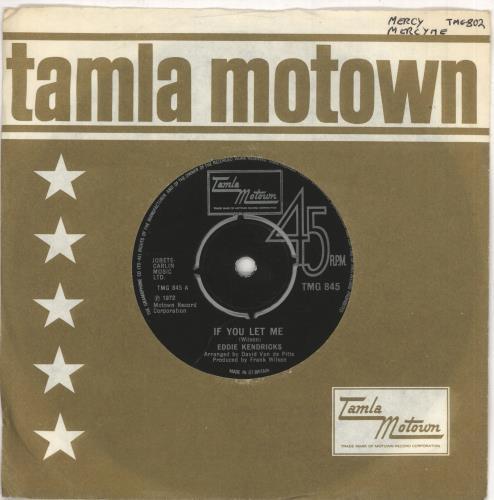 "Eddie Kendricks If You Let Me 7"" vinyl single (7 inch record) UK EKD07IF749577"