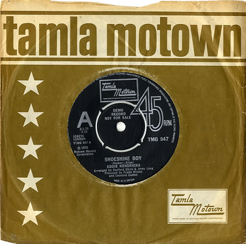 "Eddie Kendricks Shoeshine Boy 7"" vinyl single (7 inch record) UK EKD07SH467745"